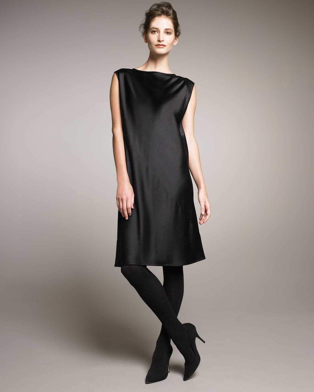 Shamask Satin Dress, Black in Black | Lyst