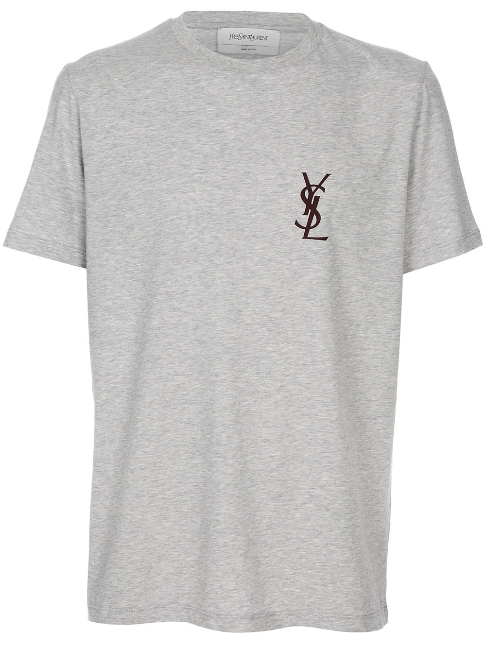 saint laurent logo t shirt in gray for men grey lyst. Black Bedroom Furniture Sets. Home Design Ideas