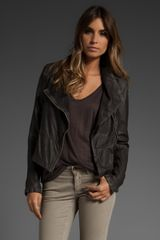 Closed Dane Leather Jacket - Lyst