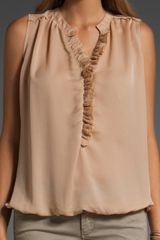 Closed Ruffle Top in Beige (nude) - Lyst