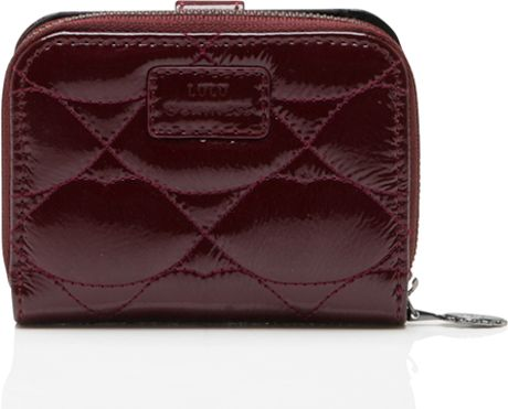 Lulu Guinness Black Cherry Quilted Lips Patent Leather ...