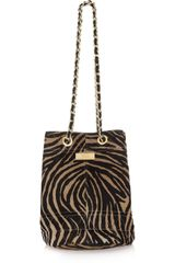 Meli' Melo' Guia Medium Zebra-print Calf Hair Bag - Lyst