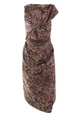 Vivienne Westwood Red Label Camouflage Taffeta Drape-front Dress - Lyst