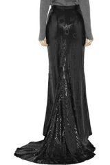 By Malene Birger Acier Sequinembellished Maxi Skirt in Black - Lyst