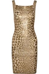 Hervé Léger Pailette-embellished Bandage Dress