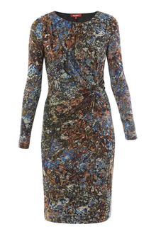 Max Mara Studio Long Sleeve Floral Dress - Lyst