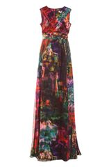 Erdem Astrid Franz Silk Voile Dress - Lyst