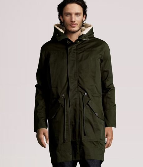 H&m Parka Jacket in Green
