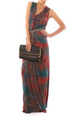 Saloni Sara Sandstorm Print Dress in Multicolor (multi) - Lyst