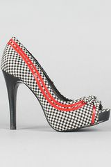 Naughty Monkey The Cover Look Iii Shoe in Houndstooth - Lyst