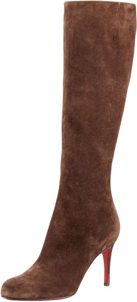 Christian Louboutin Boot in Brown - Lyst