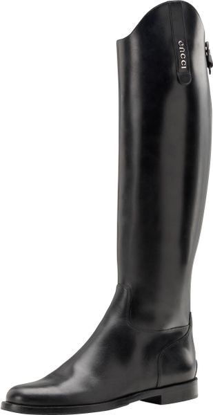 Gucci Beatriz Flat Riding Boot - Lyst