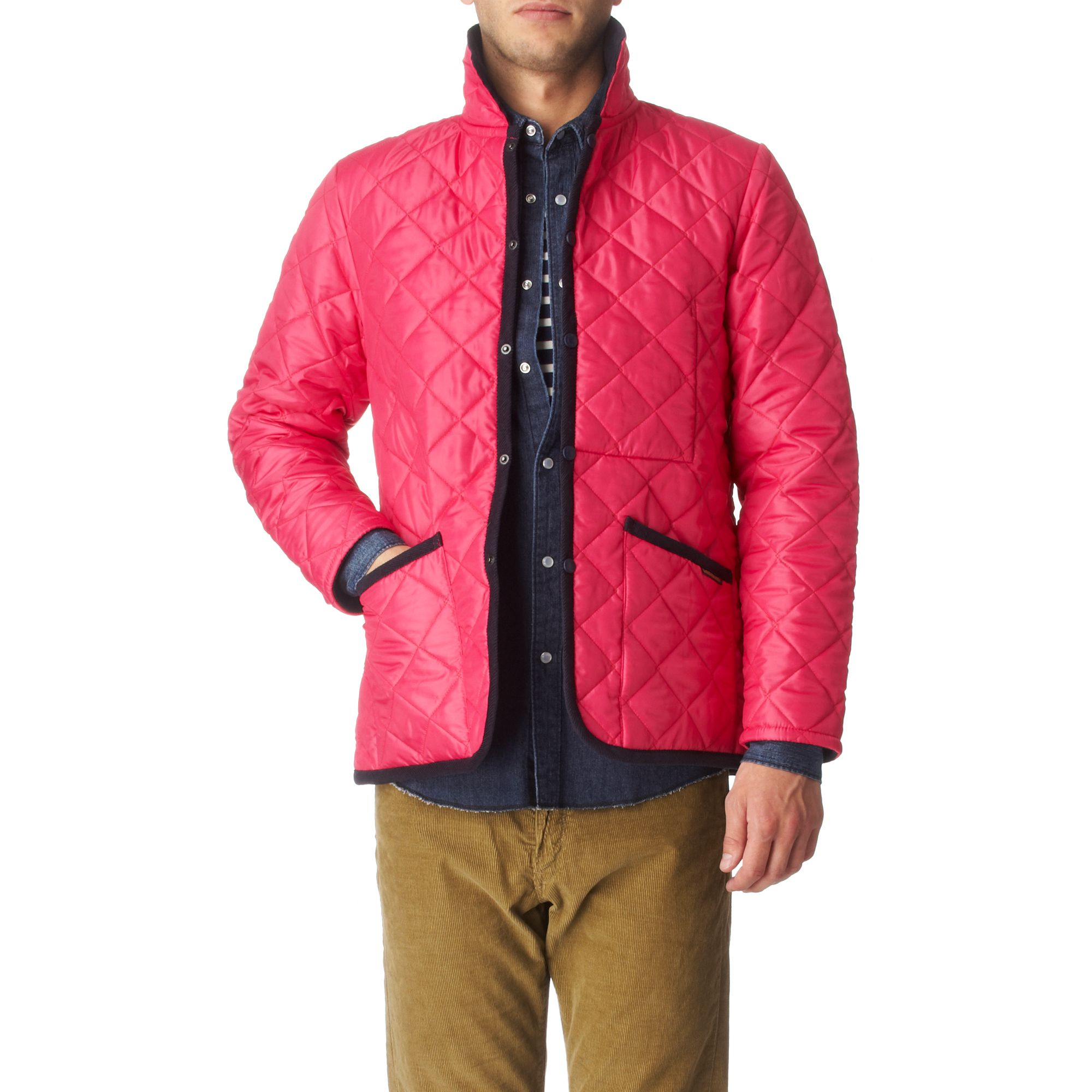 Lavenham Raydon Quilted Jacket in Pink for Men (fuschia ...