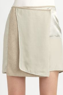 Reed Krakoff Silk and Wool Wrap Skirt - Lyst