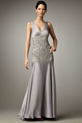 Sue Wong Applique Bustier Gown - Lyst