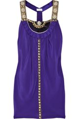 Temperley London Lilith Beaded Silk Mini Dress - Lyst