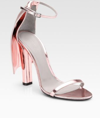 Alexander Wang Fabiana Metallic Patent Leather Cape Sandals - Lyst