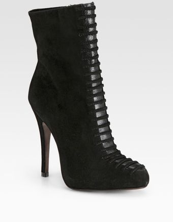 Alexandre Birman Suede Lace-up Ankle Boots - Lyst