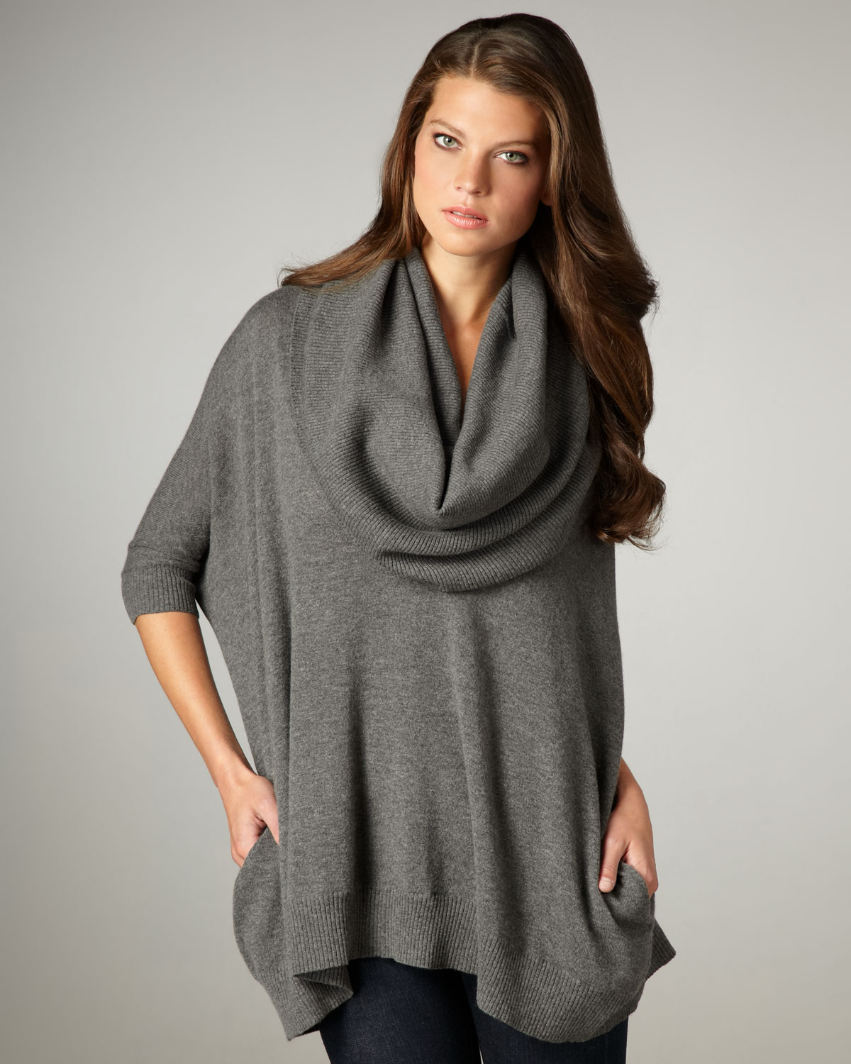 Autumn cashmere Cowl-neck Sweater in Gray | Lyst