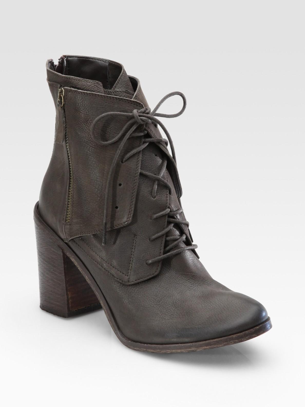 Lyst Boutique 9 Saffi Leather Zipper Detail Ankle Boots