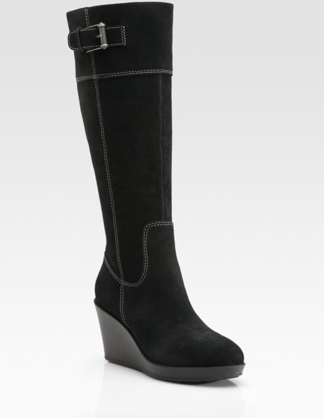 cole haan air tali wedge boots in black lyst