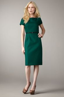 Elie Tahari Lolly Belted Dress - Lyst
