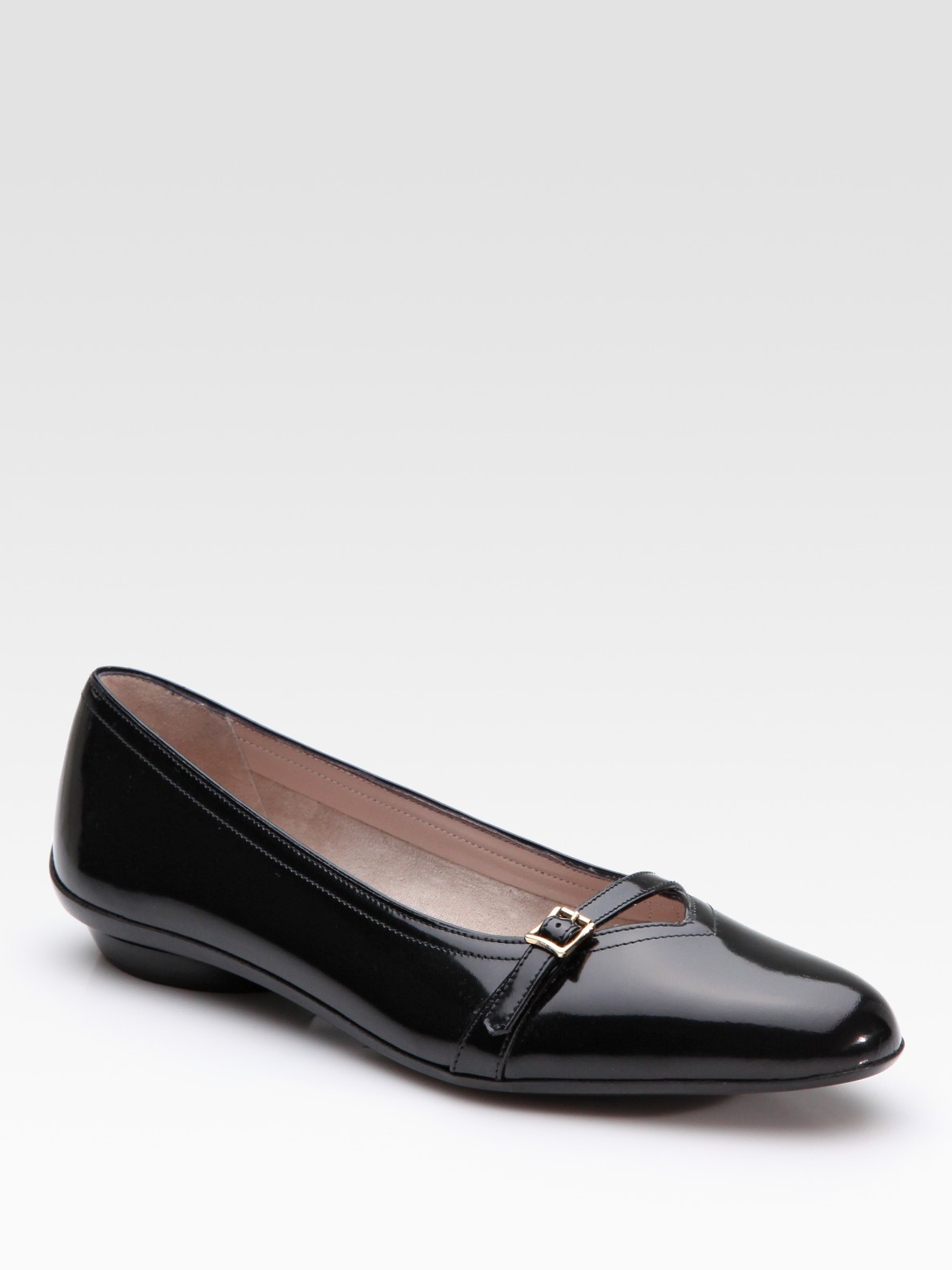 Loretta Black Patent Mary Jane Shoes