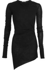 Helmut Lang Sheer Asymmetric Top - Lyst