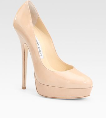 Jimmy Choo Patent Leather Pumps - Lyst