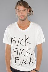 Kr3w The Fuck Fuck Fuck Premium Tee in White - Lyst