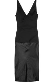 Narciso Rodriguez Wool-twill and Satin Dress - Lyst