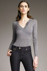 RED Valentino V-neck Sweater - Lyst
