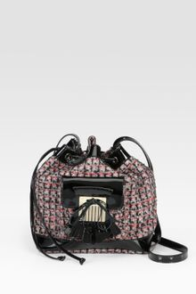 RED Valentino Tweed Drawstring Crossbody Bag - Lyst