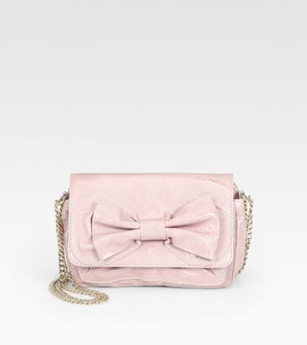 RED Valentino Leather Bow Clutch - Lyst