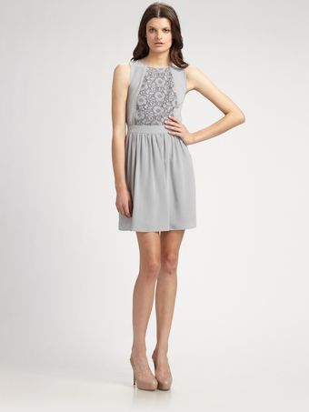 Tibi Wisteria Embroidered Dress - Lyst