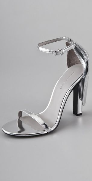 Alexander Wang Fabiana High Heel Sandals in Silver - Lyst