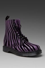 Dr. Martens Pascal 8-eye Boot in Purple/black - Lyst