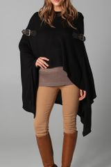 Foley + Corinna Knit Poncho with Leather Buckles - Lyst