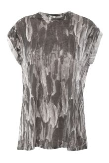 Isabel Marant Linen Feather-print Top - Lyst