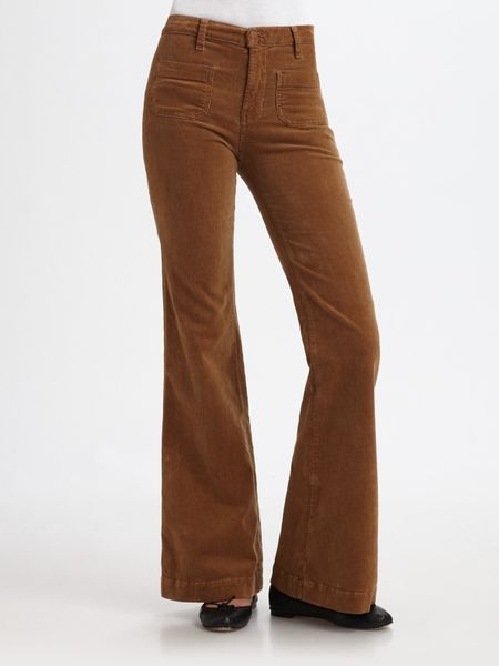 J Brand All High Rise Wide-leg Corduroy Pants in Brown (toffee) - Lyst