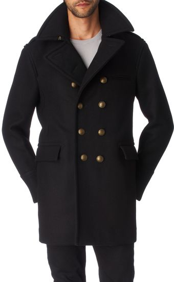 Burberry Black Brass Button Db Lockmead Coat - Lyst
