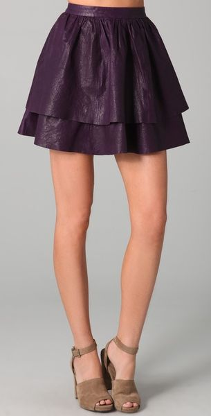 Dallin Chase Flynn Leather Skirt - Lyst