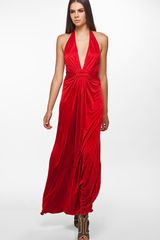 Issa Halter Maxi Dress in Red - Lyst
