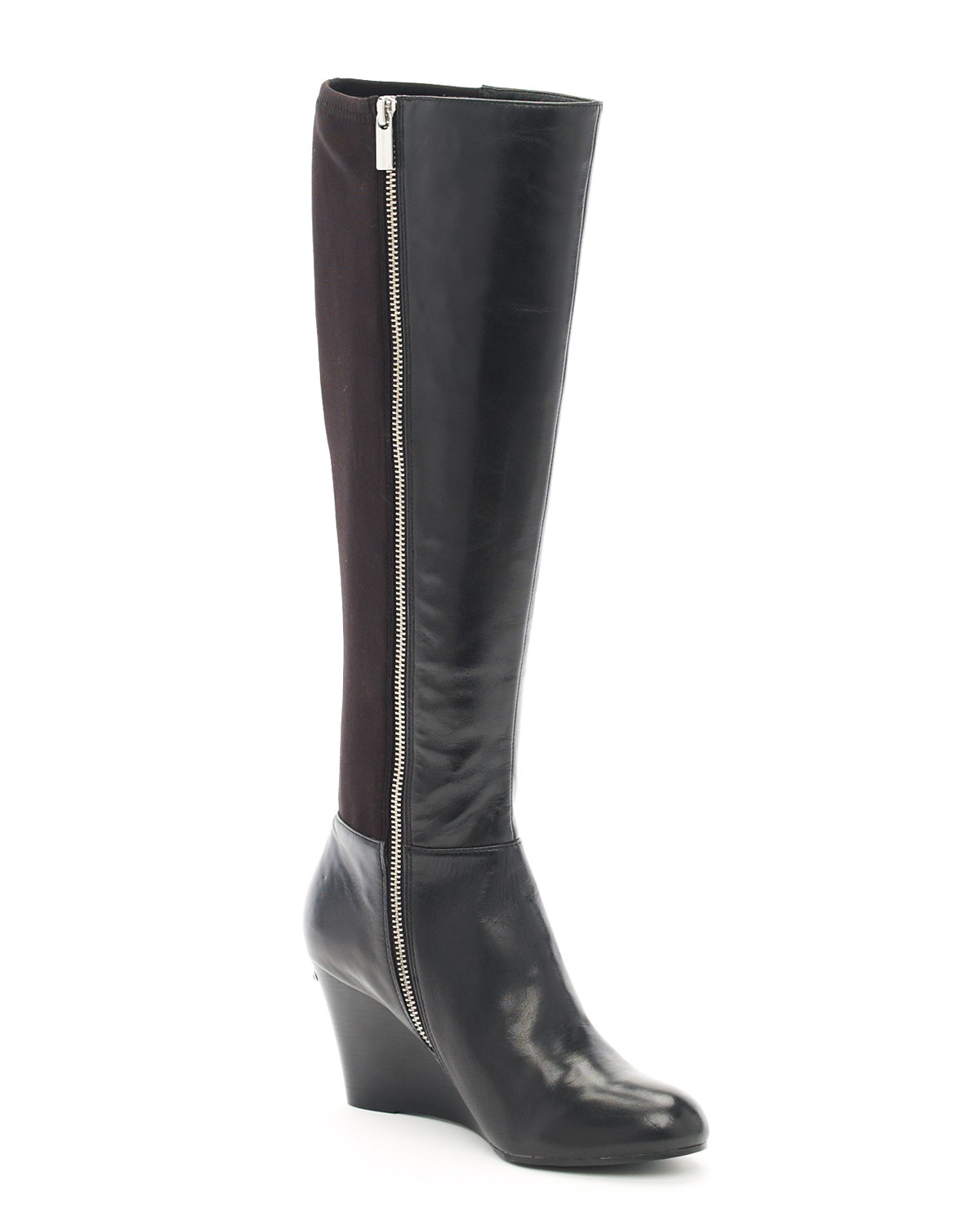 michael kors bromley wedge boot in silver lyst