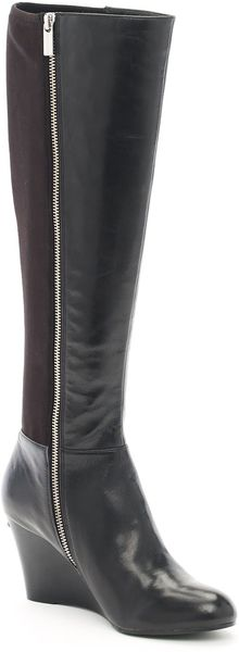 Michael Kors Bromley Wedge Boot - Lyst