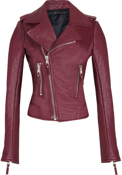 Balenciaga Motorcycle Jacket in Purple (bordeaux) - Lyst