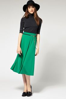 River Island Plain Midi Skirt - Lyst