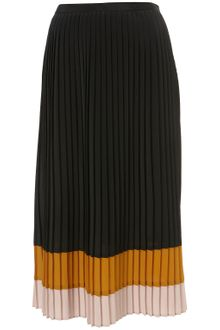 Topshop Colour Block Pleated Midi Skirt - Lyst