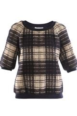 Cacharel Wool Blend Square Check Top - Lyst