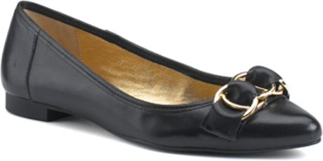 Kate Spade Eryn  Black Leather Flat in Black - Lyst